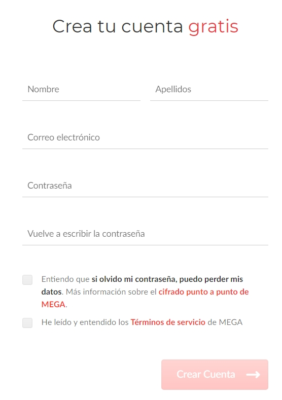 formulario mega